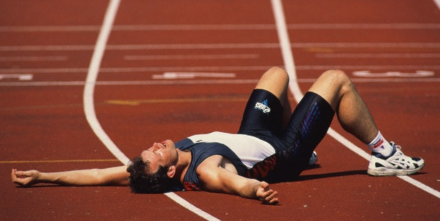 Exhausted runner
